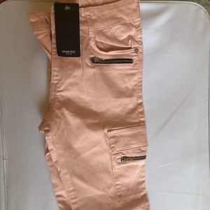 Mango Pink Cargo Pants